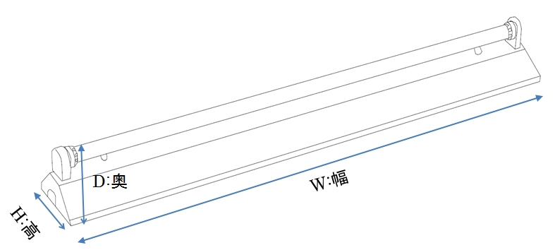 測定可能な器具の大きさ